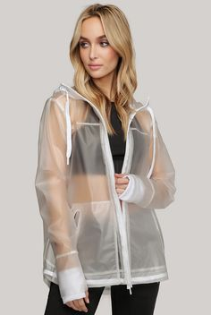 Featuring a chic take on the classic rain coat, the Torrent Jacket from Industry Active boasts a blend of performance and modern style. With a translucent design, ribbed inner sleeve cuffs, and an adjustable drawstring hem, this jacket boasts modern femin Gym Style, Casual Street Style, Feminine Style, Workout Wear, Bra Tops, Beautiful Outfits, Windbreaker, Raincoat, Bomber Jacket