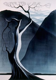 Gray Mountains by Eyvind Earle.