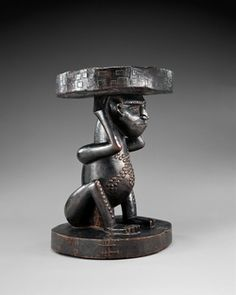 Zombo Headquarters Congo Early twentieth century Former Belgian collection Collected before 1920 Wood and metal Height: 42 cm - Lucas Ratton