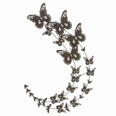 Enhance rustic or cottage style by hanging the DecMode Metal Butterfly Wall Sculpture . This indoor wall sculpture features two curved wire columns of.