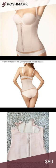 """Perfect Waist"" Firm Compression Waist Trainer VUC. Made in Brazil. The Miracle Vest is specially designed to reveal your sexiest self, reducing inches from the waistline, lifting the breasts and flattening the midsection. As an added benefit, it provides superior back support while improving posture. Exquisite details like adjustable bra straps put you in total control. Special design smooths midsection while emphasizing natural curves. Underarm design lifts the breasts and provides extra…"