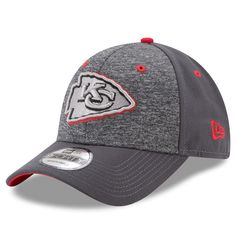 lowest price 6a9c4 3dbbf Men s Kansas City Chiefs New Era Heathered Gray Graphite The League Shadow  2 9FORTY Adjustable Hat