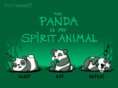 The Panda Is My Spirit Animal by fablefire