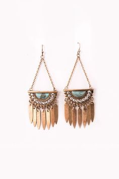 Antique Aztec Gold Earrings