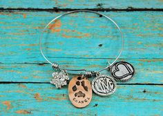 Pet Lover Bangle Bracelet My Best Friend by AugustinasAffections