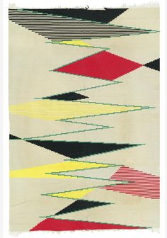 Moderist carpet Czechoslovakia circa 1950