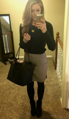 Chic Professional Woman Work Outfit. PolishedandPink: Work Day Looks