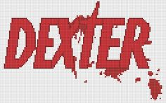 cross-stitch pattern Dexter logo