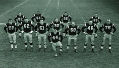 One of the most feared Offences of the 60's. Notice Faloney is wearing number 92 vs 10 and Mosca is wearing 62 vs 68