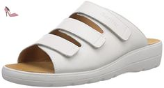 Ganter SELINA, Weite F, Chaussures de Claquettes femme, Blanc (weiss 0200), 35.5 - Chaussures ganter (*Partner-Link)