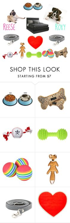 """""""my dogs!"""" by fabfashion-101 ❤ liked on Polyvore featuring Ballard Designs, Max-Bone and ban.do"""