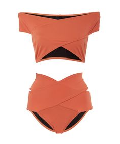The 8 Swimsuits That Will Minimize Your Butt and Thighs – Detailed Top from InS… - Bikinis Flattering Swimsuits, Cut Out Swimsuits, Cute Swimsuits, Summer Bathing Suits, Cute Bathing Suits, Bikini Swimwear, Off The Shoulder Swimsuit, Orange Swimsuit, Vintage 1950s Dresses