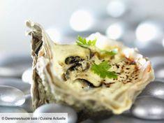 Recette Huîtres en sabayon de vouvray. Ingrédients (4 personnes) : 36 huîtres spéciales n°2, 12 cl de vouvray, 5 jaunes d'œufs... - Découvrez toutes nos idées de repas et recettes sur Cuisine Actuelle
