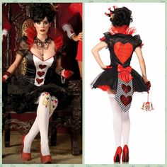 Queen Of Hearts Costume Poker Uniform Halloween Costume Red Hearts Poker Queen Costumes Queen Dress Halloween Cosplay For Women