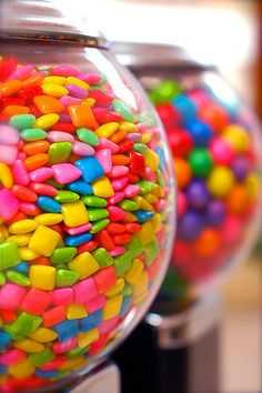 Candy in jars is always a great idea for a party display!