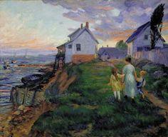 John French Sloan - Evening, Rocky Neck 1916