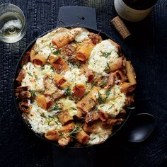 Baked Rigatoni with Milk-Braised Pork, Ricotta and Lemon - Key to it is the tender milk-braised pork and its cooking liquid, which is pureed to form the sauce for the rigatoni. http://www.foodandwine.com/recipes/baked-rigatoni-milk-braised-pork-ricotta-and-lemon