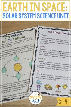 Solar System and Planets Science Unit Planets Activities, Vocabulary Activities, Writing Activities, Fun Activities, Student Teaching, Teaching Science, Teaching Reading, Earth And Space Science, Earth From Space