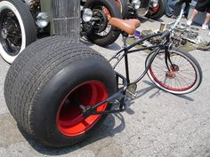 Cool Bikes For Big Men BIG wheel by EmmaLethal