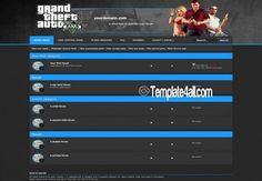 Phpbb Styles - Game GTA Phpbb Theme Design #game #phpbb #gta #phpstyles
