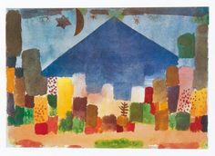 """Paul Klee """"The Mountain Niesen, Egyptian Night"""" 1915"""