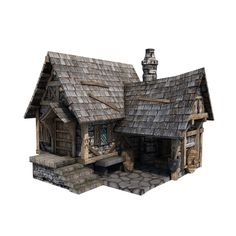 Medieval House 14 - game-ready 3d model by gamedev.cgduck.pro