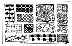 Free Zentangle How To Patterns | Recent Photos The Commons Getty Collection Galleries World Map App ...