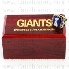 Custom NFL 1986 Super Bowl XXI New York giants Championship Ring - Football
