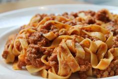 Ragù served over silken egg tagliatelle is one of the signature ...