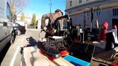 .. beim Parkplatz in der Viaduktgasse Train, Parking Space, Strollers