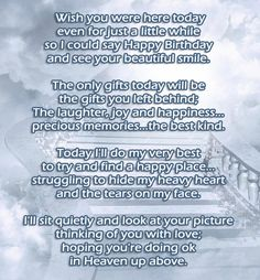 72 Beautiful Happy Birthday in Heaven Wishes- My Happy Birthday Wishes Happy Birthday Sister In Heaven, Mum In Heaven, Birthday In Heaven Quotes, Happy Heavenly Birthday, Son Birthday Quotes, Birthday Wishes For Sister, Birthday Heaven, Heaven Poems, Sister Quotes