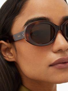 Trending Sunglasses, Oval Sunglasses, Sunnies, Celine, Fashion Eye Glasses, Reading Glasses, Tortoise Shell, Sun Protection, Friends In Love