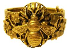 Joseph brass bee cuff - 1940's - If I owned something like this, I'd probably wear it every day and work outfits around  *it.*