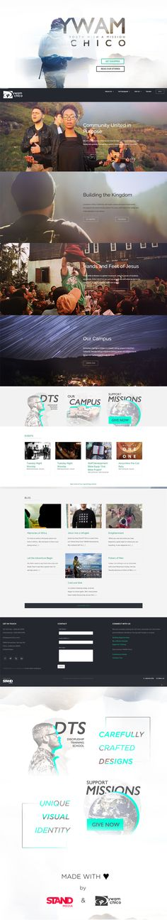 YWAM Chico - Stand Media ywamchico.com #website #design #web #graphics #clean #layout #ux #ui
