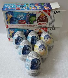 Disney Inside Out Chocolate With Surprise Toys 2 Boxes(6 Eggs) USA Free Shipping #DisneyZaini