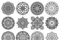 100 Vector Mandala Ornaments