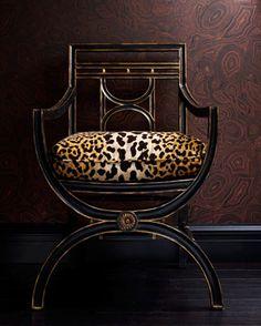 black, gold, and ocelot patterned velvet