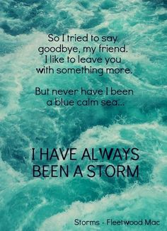 Storms - Fleetwood Mac LOVE this song!