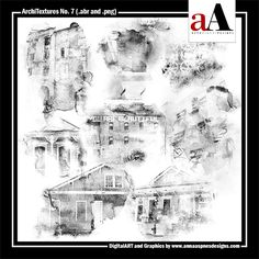 <p> A collection of 8 distressed architure brushes delivered in .abr and black .png format to enable maximum customization.</p>