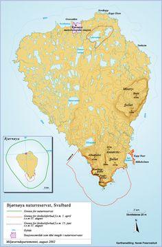 Svalbard - Bjørnøya - L'Île à l'Ours :  La carte de l'île aux Ours