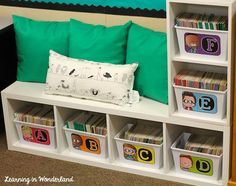 Classroom Tour I love the idea of using a bookshelf and turning it on it's side, making it a seat as well! Classroom Layout, Classroom Organisation, Classroom Design, Classroom Themes, Classroom Libraries, Classroom Management, Classroom Storage Ideas, Behavior Management, First Grade Classroom