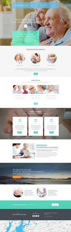 Senior Care #WordPressTheme wordpress website template