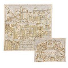 Hand-Embroidered Matzah & Afikomen Set