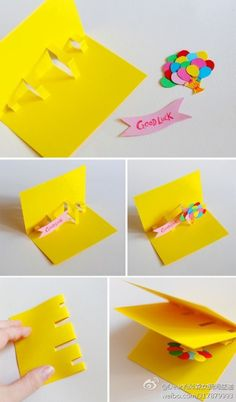DIY Popup birthday card Pinterest Birthdays Cards and Craft