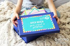 Free printables to make your own open when letters! The perfect romantic, meaningful (and FREE) gift idea to show your love! Birthday Gifts For Boyfriend Diy, Surprise Boyfriend, Gifts For Your Boyfriend, Mom Birthday Gift, Boyfriend Ideas, Open When Letters, Letters For Kids, Open When Envelopes, Letters To Boyfriend