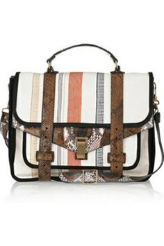 c89232c541 PS1 Large Leather and Canvas Shoulder Bag by Proenza Schouler Ps1 Bag
