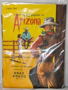 Vintage ARIZONA Bear Brand CopperBronze 15 Denier Full Fashioned Nylon Stockings