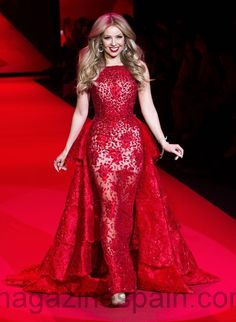 New York Fashion Week in red