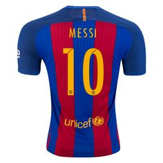 Buy Nike Lionel Messi Barcelona Authentic Home Jersey 16/17 on SOCCER.COM. Best Price Guaranteed. Shop for all your soccer equipment and apparel needs.