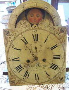 Abel Hutchins Concord NH post revolutionary clock dial